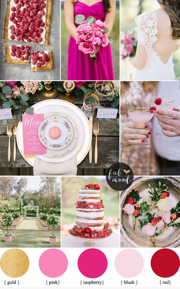 Have a garden theme wedding - Raspberry And Gold Wedding Colour for Garden Theme Dream Wedding | http://www.fabmood.com/raspberry-and-gold-wedding-colour #gardenwedding #gardentheme #weddingtheme: