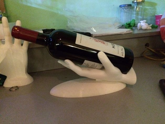 Wine Hand by koukwst - Thingiverse