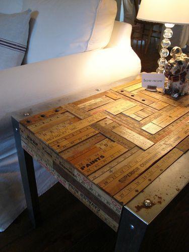 .: Yard Sticks, Idea, Side Tables, Coff Tables, Crafts Tables, End Tables, Yardstick Tables, Ruler Tables, Sticks Tables