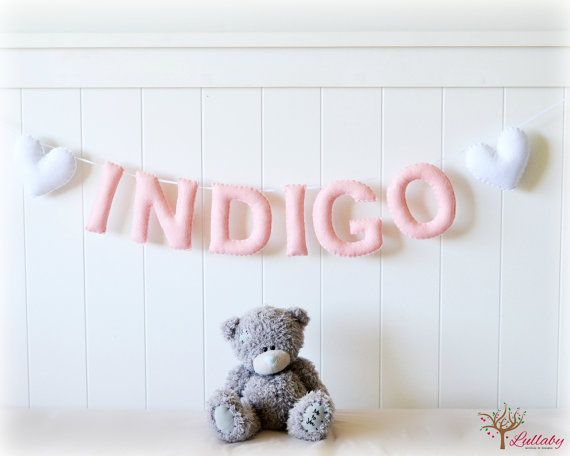 Personalized felt name banner custom made wall by LullabyMobiles, These are perfect!