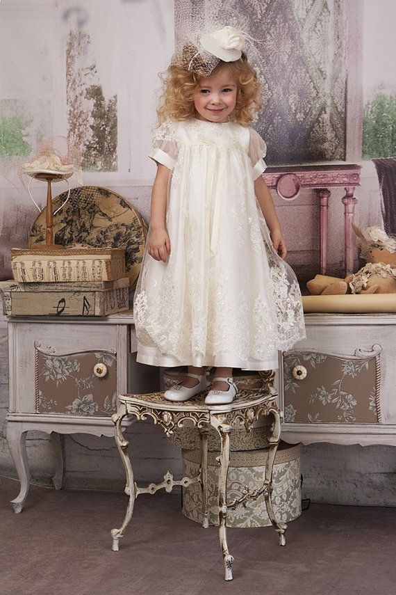 Silk & Lace Christening Gown Silk Lace by StyledByAlexandros