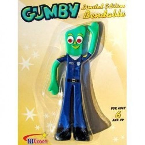 "Policeman Cop Gumby 6"" Bendy Figure New in Package in 