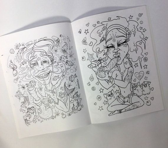 Stoner Coloring Book for Adults PRE-ORDER. All by dOmaniaPower