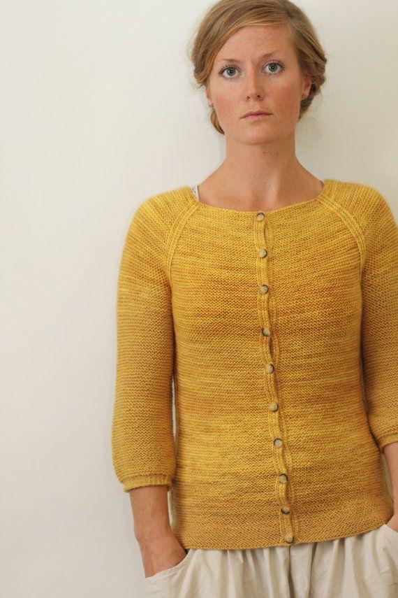 AUDREY // top down cardigan sock yarn sweater knitting pattern PDF Jane Richmond