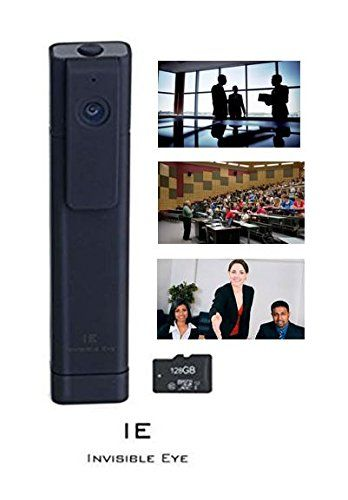 IE - Invisible Eye 2016 Model Full HD h264 CCTV Mini Hidden Pocket Portable Meeting Recorder Video Camcorder 180° Wide Angle View Supports 128GB Micro SD Card ** Click image for more details.
