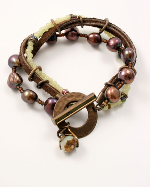 25 best ideas about leather pearl bracelet on pinterest. Black Bedroom Furniture Sets. Home Design Ideas