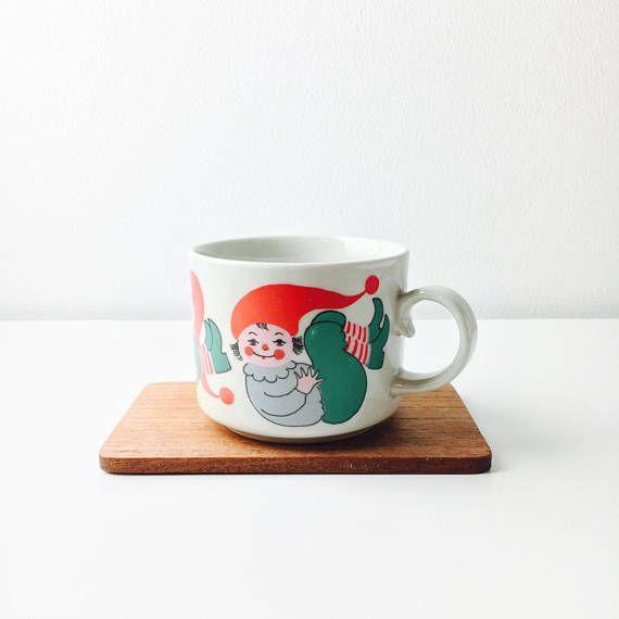 Very rare vintage Arabia Finland ceramic Christmas mug named