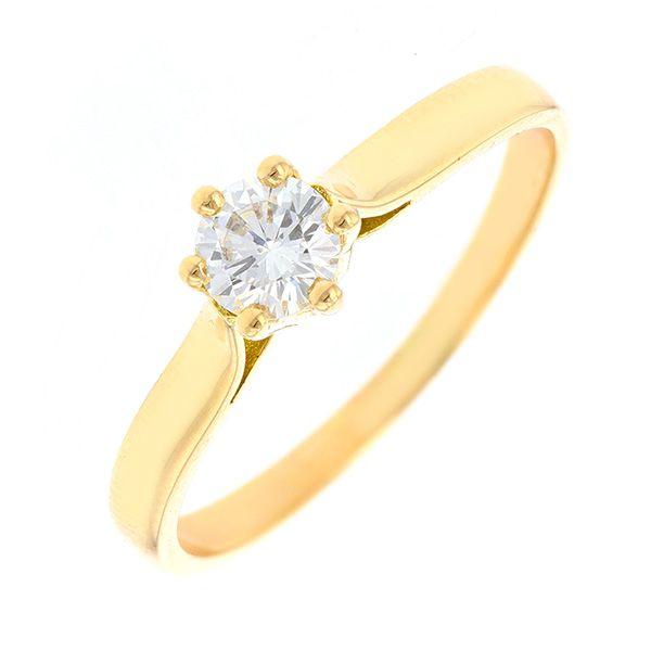 bague or jaune et diamant occasion