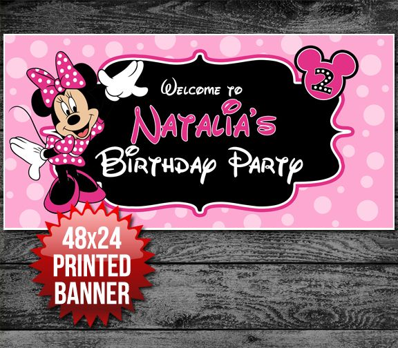 Minnie Mouse Birthday Banner!