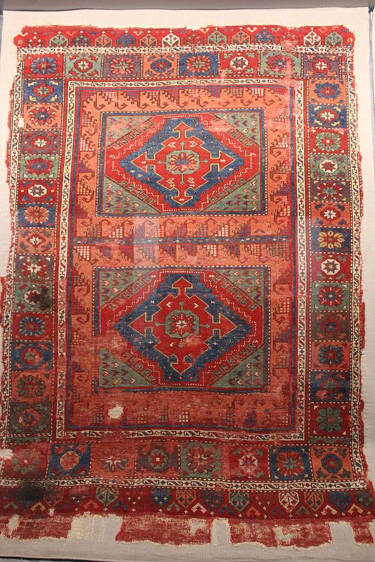 14-15th century carpet from Eastern Anatolia from the Divriği Ulu Cami