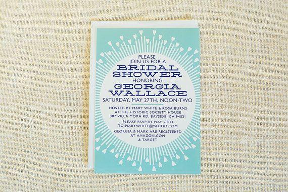 Moderne, Bridal Shower Einladung, Bridal Shower einladen, Herzen, blau, weiß, Dusche Einladung, Hochzeitsempfang, bedruckbar, Digital, Custom