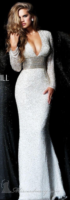 Fein Sherri Hügel Weißes Abschlussballkleid Bilder - Brautkleider ...