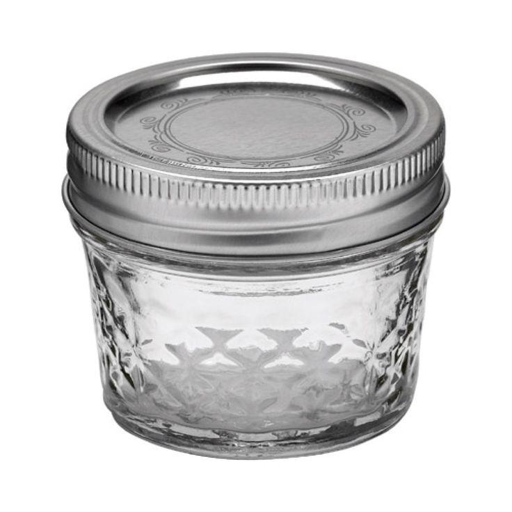 Ball® 4oz Regular Mouth Quilted Crystal Mason Jars