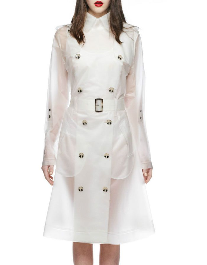 """MOMA - Oversized Trench coat - Frosty White (also in Ash Black) 100% water resistant + Ventilation system Heat sealed seams to not let a drop of water in! Measurements: 42"""" in circumference at bust; 4"""