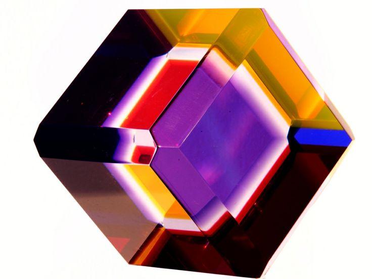 Emire Konuk: Transparent colored plexiglass sculpture (2013)
