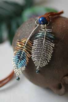 Sale of beads Accessory | feather necklace! Beans Okinawa beads kit - cool