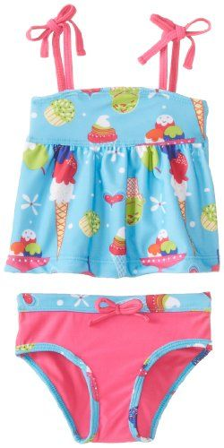 Pink Platinum Baby-Girls Infant Ice Cream Tankini, Turquoise, 12 Months - http://shopperselections.com/pink-platinum-baby-girls-infant-ice-cream-tankini-turquoise-12-months/