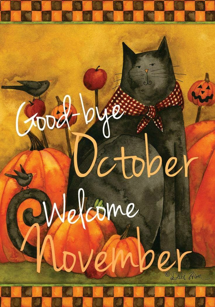 Goodbye October....Welcome November! ❤️