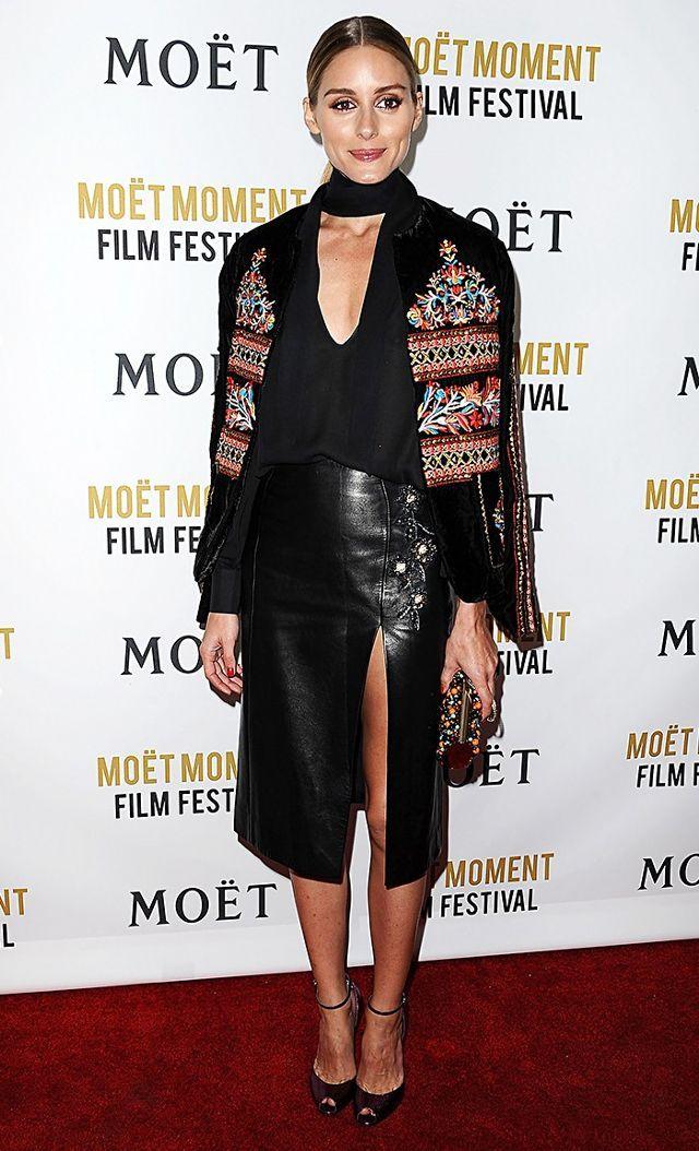On Palermo:Zara jacket; Brian Atwood Oriana Metallic Watersnake Sandals($925).
