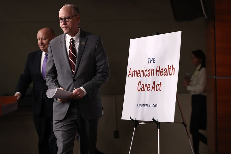 WASHINGTON, DC - MARCH 07:  House Energy and Commerce Chairman Greg Walden (R-OR) (R) and House Ways and Means Chairman Kevin Brady (R-TX) (L) arrive for a news conference on the newly announced American Health Care Act at the U.S. Capitol March 7, 2017 in Washington, DC. House Republicans yesterday released details on their plan to replace the Affordable Care Act, or Obamacare, with a more conservative agenda that includes individual tax credits and grants for states replacing federal…