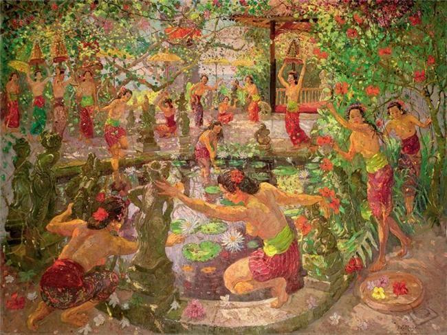 Adrien-Jean Le Mayeur de Merfres - Bermain di kolam