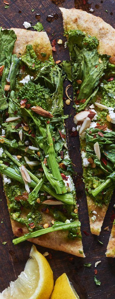 Roasted Broccoli Rabe Flatbread