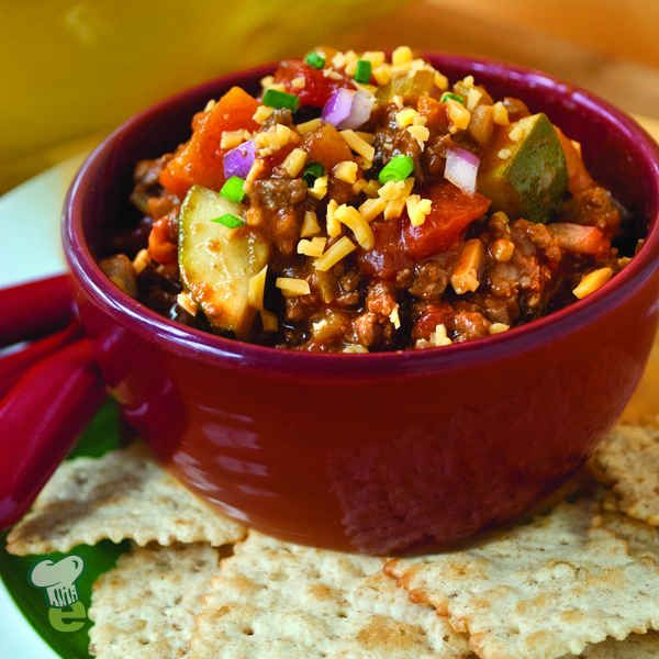 Harvest Chili : Chili is a football party favorite. This harvest chili recipe is loaded with vegetables and lots of flavor.