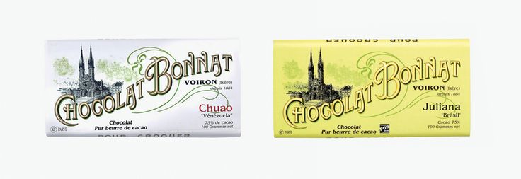 Les secrets de confection du chocolat Bonnat passe de génération en génération. Une histoire de famille qui a commencé au 19ème siècle en Isère et qui continue encore a se raconter. Le packaging, tout comme la maison chocolatière, mise sur la tradition.