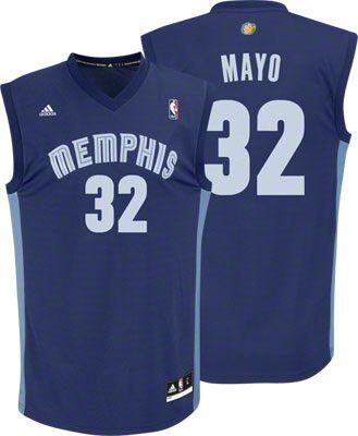 Memphis Grizzlies O J Mayo 32 Blue Authentic Jersey Sale