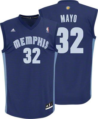 Memphis Grizzlies O J Mayo 32 Blue Authentic Jersey Sale