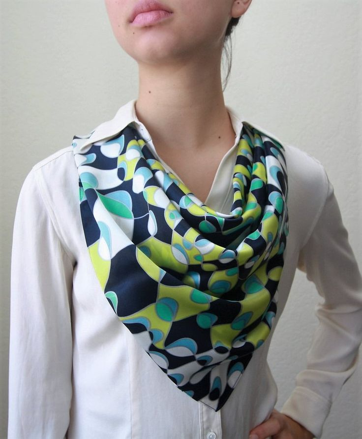 Fish schools in Spring Time Silk Scarf