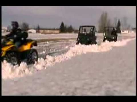 SnowSport ATV & UTV Snow Plows Product Demo - Here's a great way to make clearing snow this winter fun and easy. This video shows the ATV snow plow in action. It's available at http://www.realtruck.com/snowsport-atv-snow-plow/.