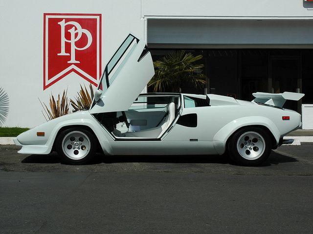 1987 Lamborghini Countach   White On White