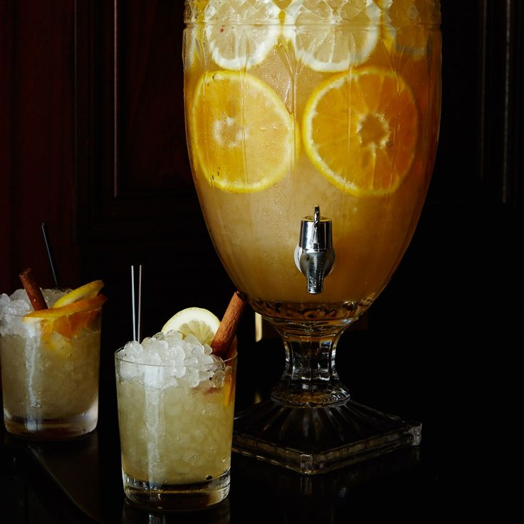 Anjou Punch | Leo Robitschek of The NoMad Bar in NYC makes his perfect holiday punch with warming flavors of pear, cinnamon and citrus.