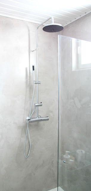 Mikrosementti kylpyhuoneessa // ennen ja jälkeen