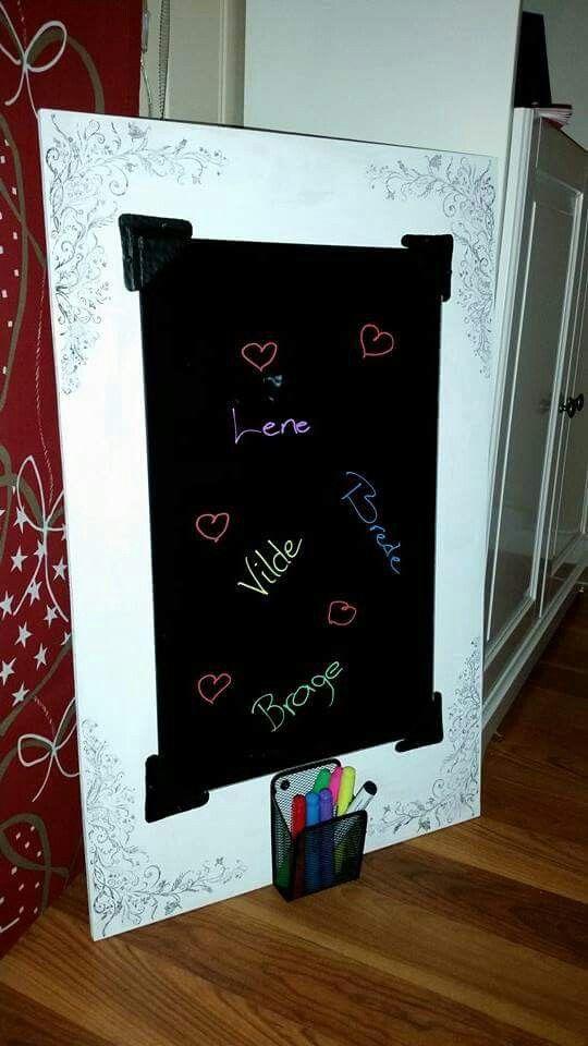 Blackboardtavle laget av glassplate