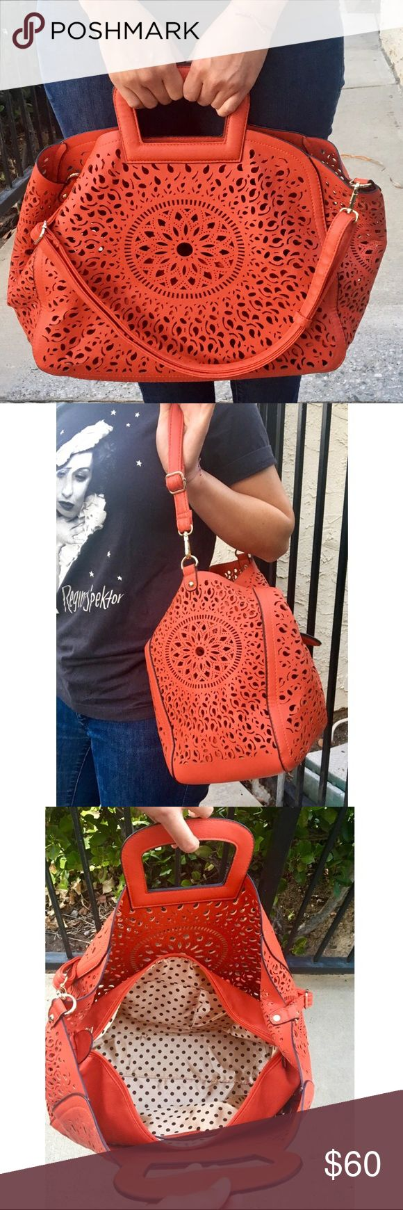 Melie Bianco Premium Vegan Leather Handbag Get this Hot Red handbag to spice up any of your summer outfits. The bag is perfect for city adventures and beach days.  Have fun with it! Melie Bianco Bags Satchels