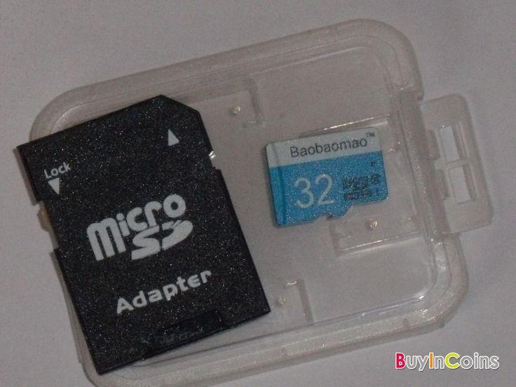 Чистая карта памяти SD Полное 32GB микро- TF флэш-памяти класса 10 Свободный адаптер Синий и белый -- BuyinCoins.com