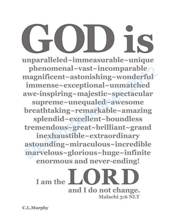 Scripture Art Print Word Art God IS Christian Home Decor 8 X 10