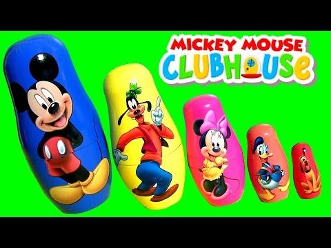 Mickey Mouse Stacking Cups cyhhjjjjjkkjikkkoolom Pateta Minnie Pato Donald Pluto Copinhos de Empilhar em Portugues BR - YouTube
