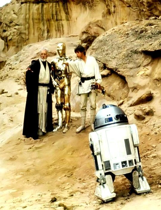 Original set photo from Star Wars A New Hope. Circa 1975-1977. #StarWars #TFISHboard