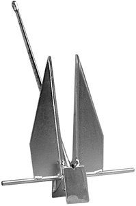 DANFORTH HI-TENSILE ANCHOR 5H - boatanchory.com - Danforth Traditional Hi-Tensile Anchors have endured over 50 years giving reliable performance. Danforth's toughest, most durable anchor and features very high holding power. The flukes are fabricated for additional strength and then befeled to allow quick, deep bottom penetration. shank is made from drop forged steel. Hot dipped galvanized finish. Wt.