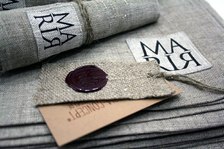 """Tablecloth """"Strahl"""" with handmade label"""