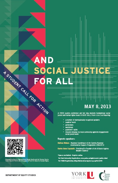 Social Justice Conference, May 8, 2013
