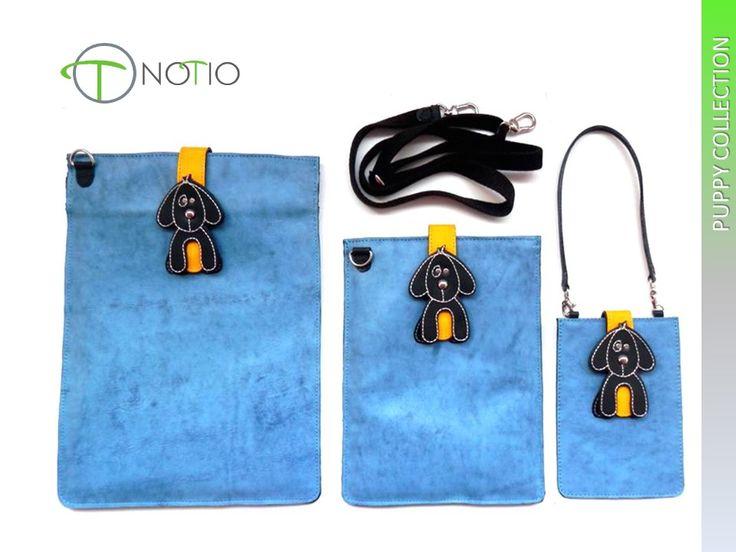 Notio - Colección para tecnologia ; estuches para cell phone, tablet small y tablet  en cuero genuino