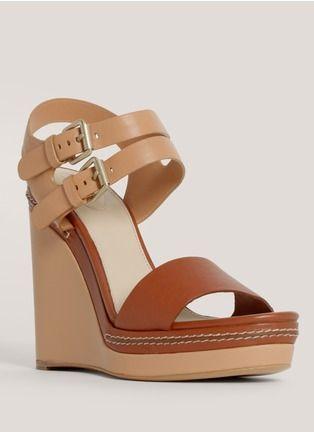 ChloéDouble-buckle wedge sandals