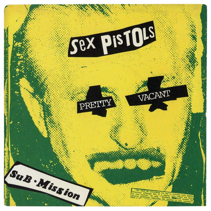 Sex Pistols, Pretty Vacant, Virgin Records/UK (1977) Sleeve designed by Jamie Reed.