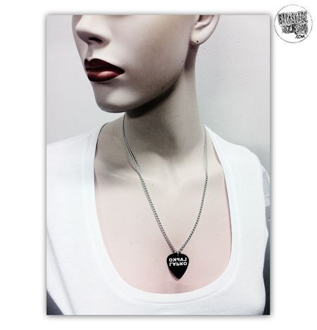 Plectrum necklace, Pendant - Lapko. Designed and made by Jaana Bragge.