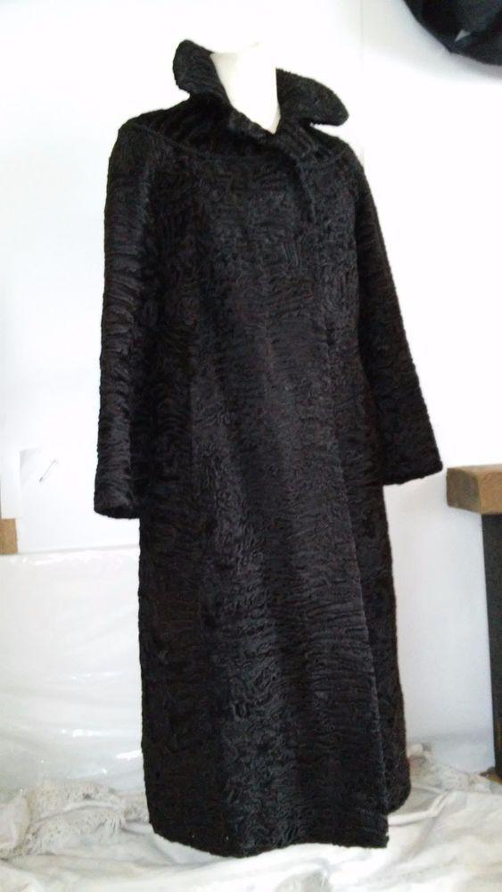 BROADTAIL FUR COAT  swakara  karakul pelzhaus size L #Ecker #BasicCoat
