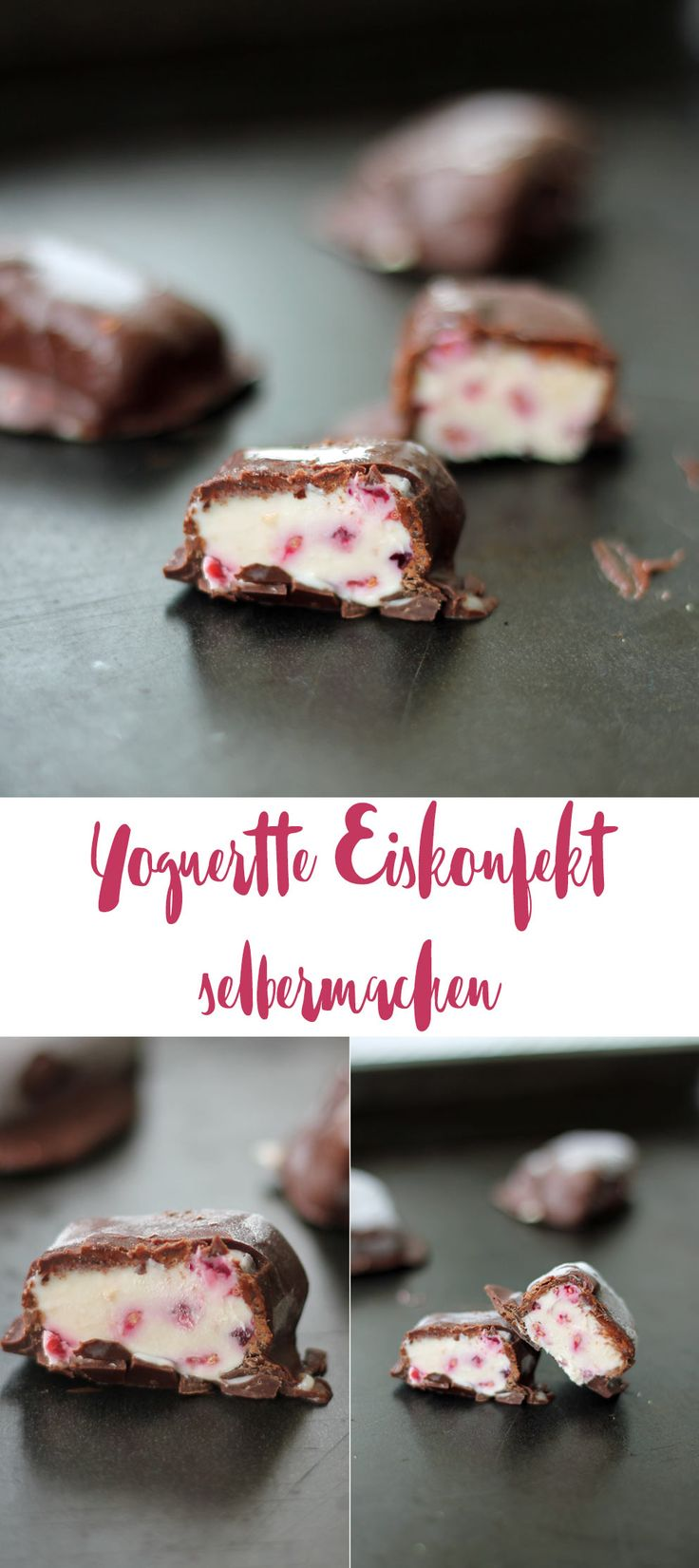 Yogurette Eiskonfekt selbermachen - leckere Eiserfrischung für den Sommer